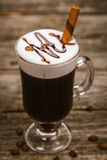 Glass of Irish coffee Stock Image