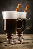 Glass of Irish coffee Royalty Free Stock Photography