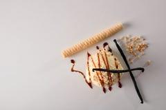Glass isolerad smaksatt bästa sikt för vaniljbakgrund arkivfoto