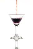 glass isoleringswhite för champagne Fotografering för Bildbyråer