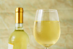 Glass of italian white wine Stock Photography