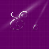 Glass Italic Letters E Stock Image