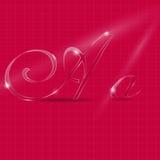 Glass Italic Letters Stock Photo