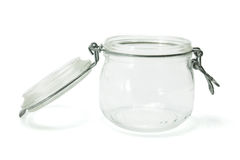 Glass Jar. On White Background Stock Photography