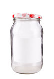 A glass jar Stock Photo
