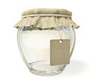 Glass jar. Isolated on a white background Stock Images