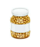 Glass jar with Bean Stock Photos