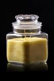 Glass Jar Candle  4 Stock Photos