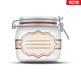 Glass Jar for canning Stock Images