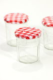 Glass jar (with clipping path  isolated on white background Royalty Free Stock Images