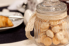 Glass jar with cookies Stock Photography