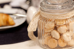 Glass jar with cookies Royalty Free Stock Photography