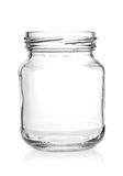 Glass jar with empty threaded . Stock Image