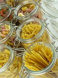 Glass jar filled with pasta Stock Photography