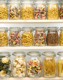 Glass jar filled with  pasta Stock Photo