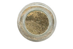 Glass jar with herbs Stock Image