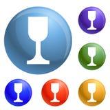Glass jar icons set vector vector illustration