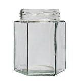 Glass jar isolated. Royalty Free Stock Photos