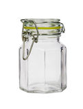 Glass jar isolated on white background Royalty Free Stock Images