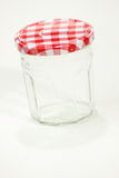 Glass jar isolated on white background Stock Photography