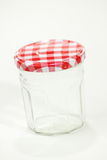 Glass jar  isolated on white background Stock Photo