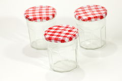 Glass jar  isolated on white background Stock Images