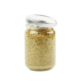 Glass jar of italian pesto isolated Royalty Free Stock Photos