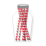 Glass jar with jar with multiple straw Royalty Free Stock Photos