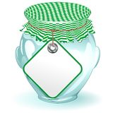 Glass Jar with Label-Food Container Stock Photography