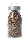 Glass jar of lentils Royalty Free Stock Photography