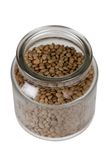 Glass Jar with Lentils Stock Photography
