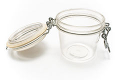Glass jar with lid Stock Photos
