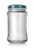 Glass jar with lid Stock Image