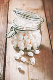 Glass jar with marshmallows Stock Photography