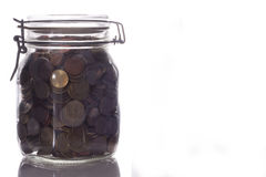 Glass jar with money Royalty Free Stock Photography