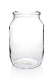 Glass jar one liter empty. Royalty Free Stock Image