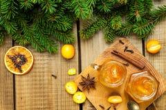 Homemade orange jam stock photo