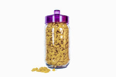 Glass jar with pasta Royalty Free Stock Photography