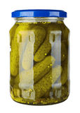 Glass jar with pickled cucumbers Royalty Free Stock Image