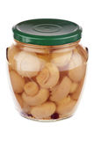 Pickled mushrooms Royalty Free Stock Images