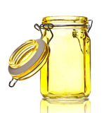 Glass Jar for Spice Stock Photography