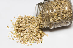 Free Glass Jar With Rolled Oats Isolated On White Background Royalty Free Stock Photo - 85838055