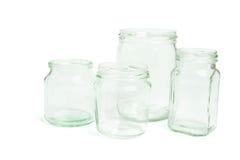 glass jars Royaltyfri Bild