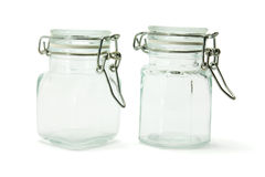 Glass Jars Stock Photography