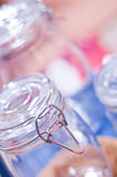 Glass jars Royalty Free Stock Photos