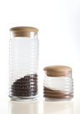 Glass jars Royalty Free Stock Images