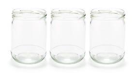glass jars Fotografering för Bildbyråer