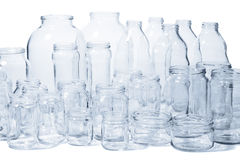 Glass jars and bottles Stock Images