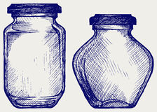 Glass jars Stock Image