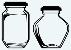 Glass jars Stock Photos